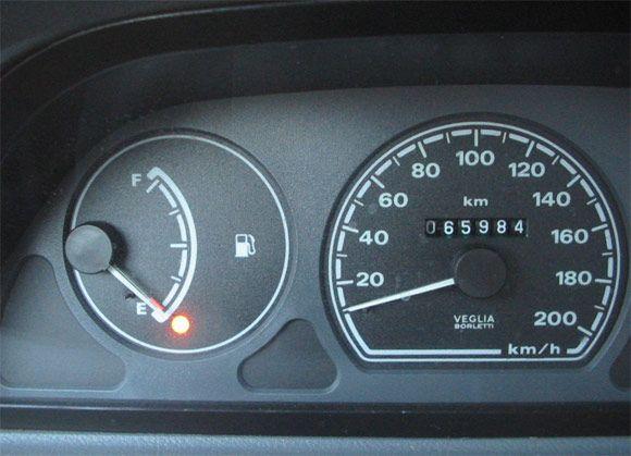 Licznik mało paliwa