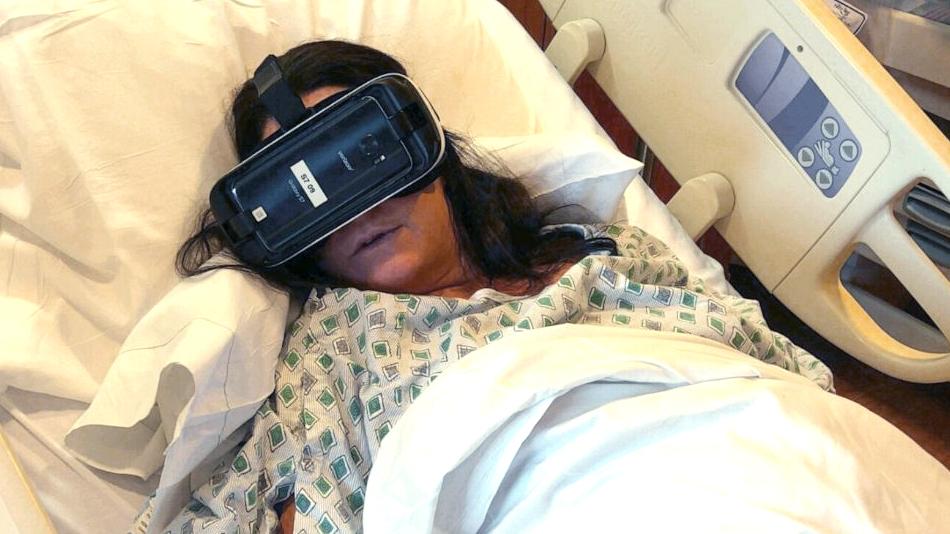 W hełmie VR poród jest mniej bolesny