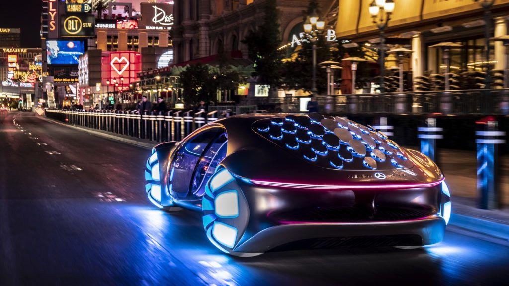 Mercedes Benz Vision AVTR on the street 2