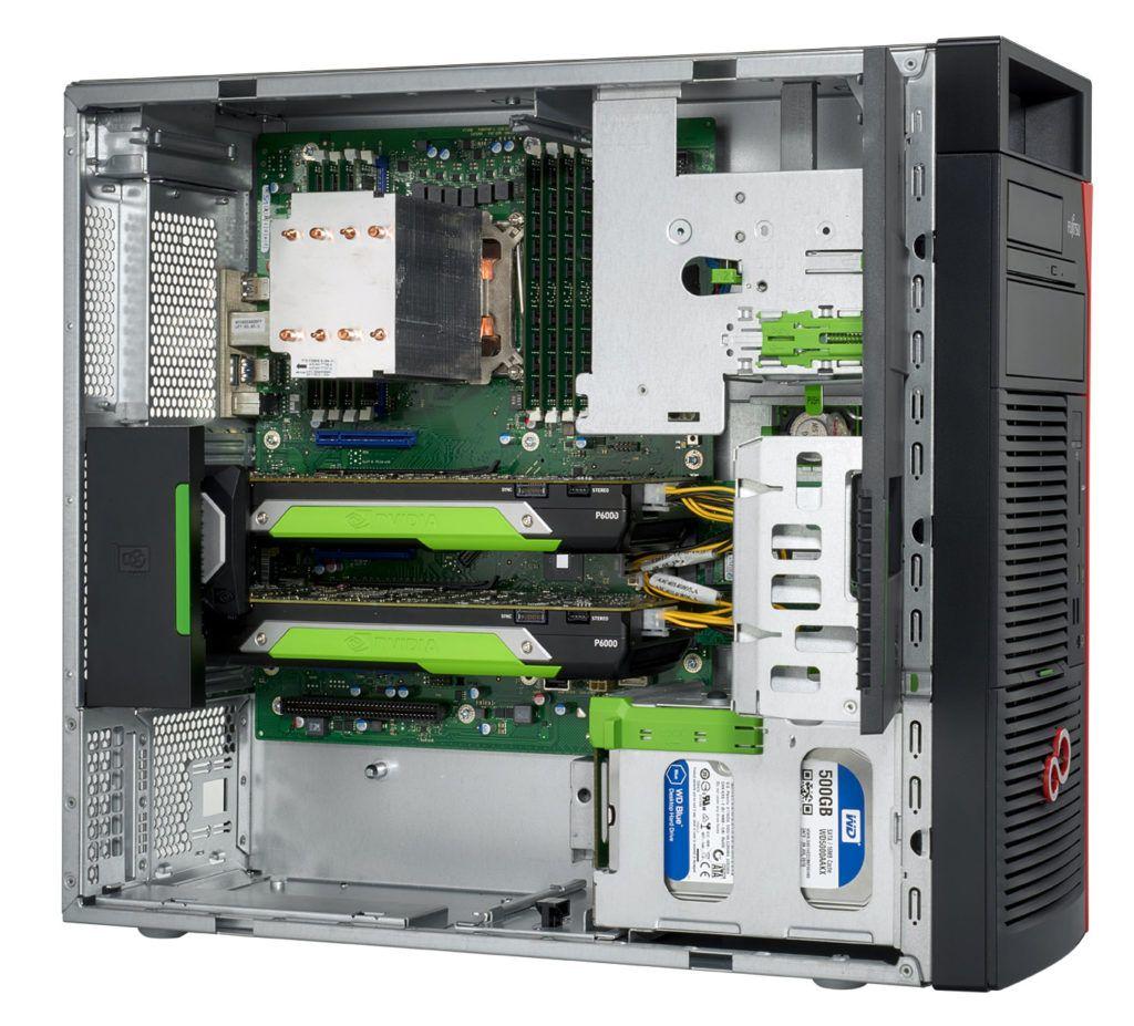 Fujitsu Celsius M7010 otwarta