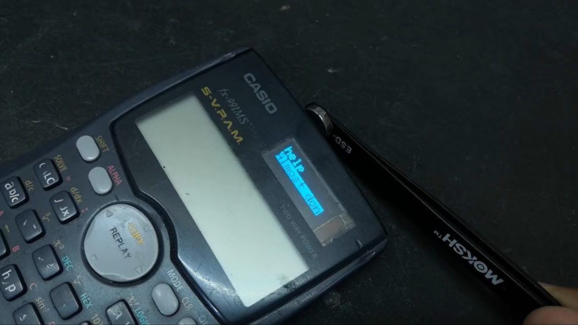 Kalkulator naukowy Casio poprzeróbce zyskał dostęp dointernetu. Projekt został zablokowany zazłamanie praw autorskich