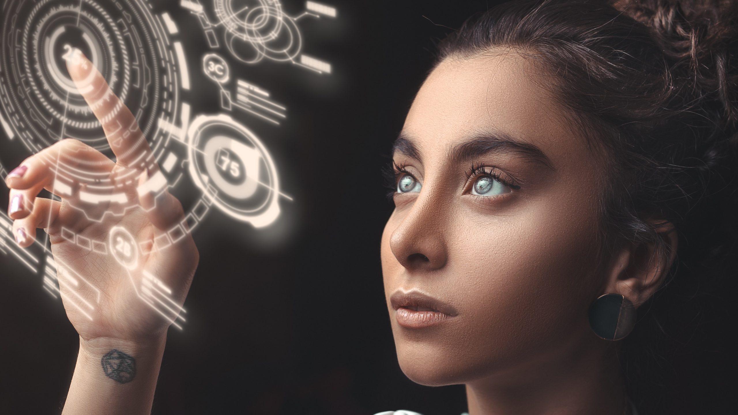 kobieta technologie ar przyszłość
