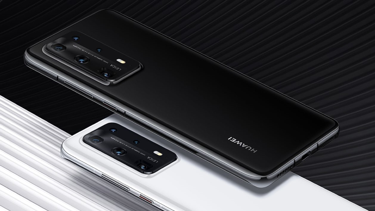 Huawei P40 Pro+ 5G czarny i biały