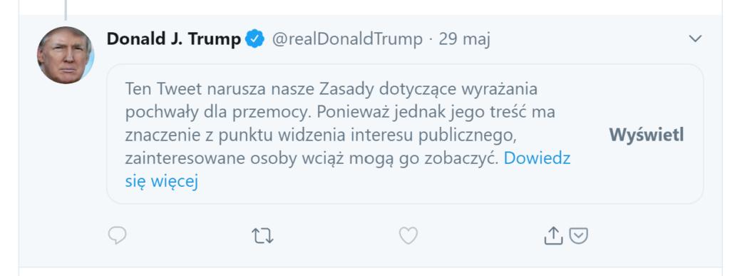 trump tweet ukryty