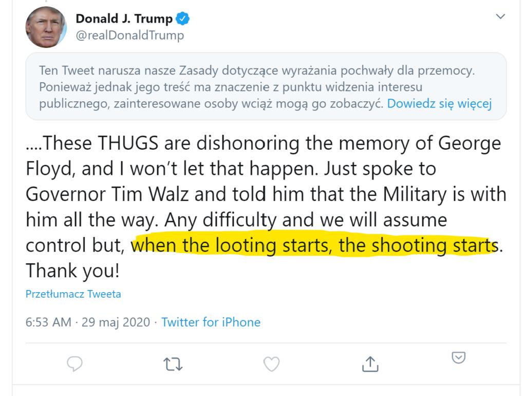 Donald Trump looting shooting