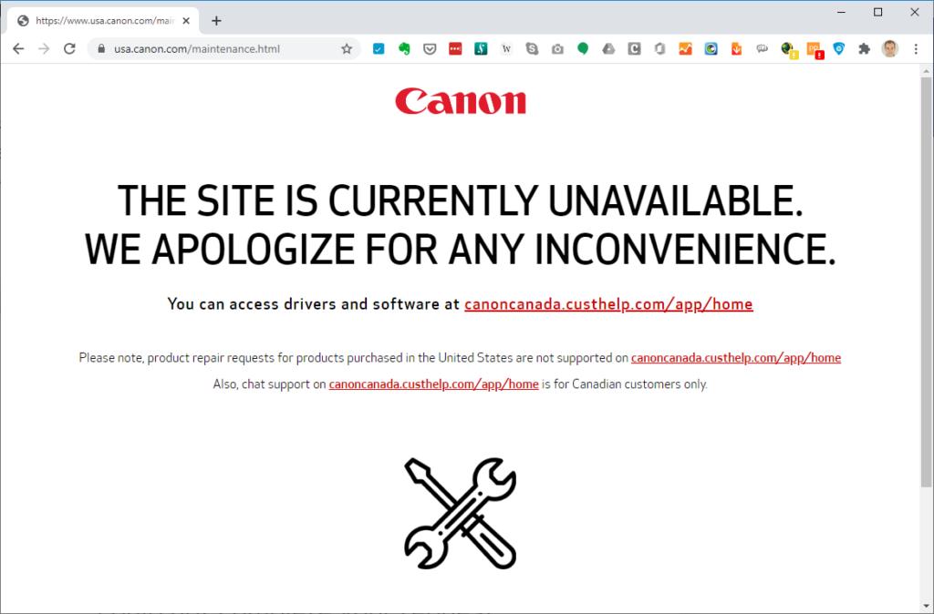 canon down