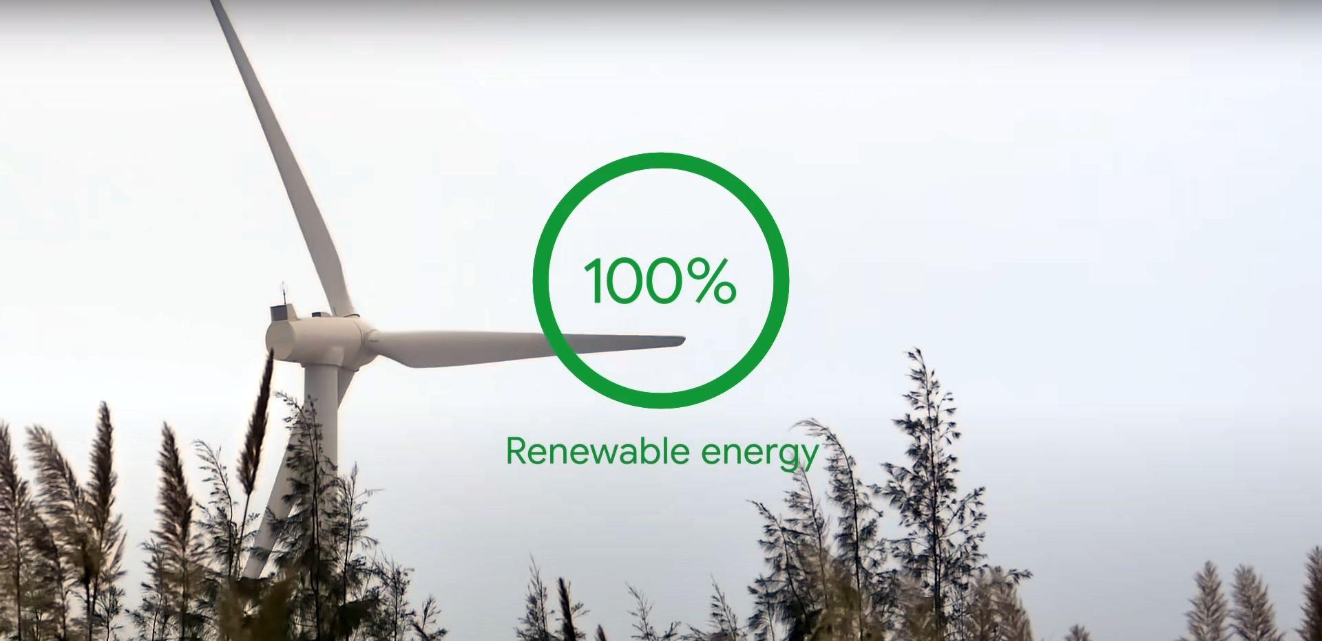 Google Energia wiatrowa i sloneczna zeroemisyjna 2030