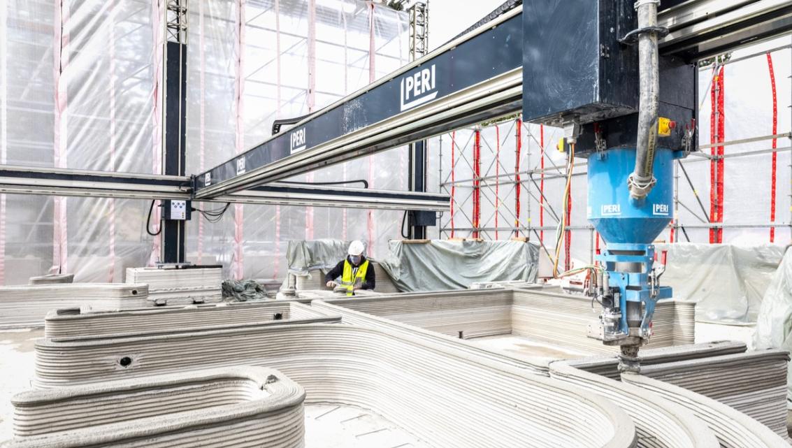 PERI stawia wNiemczech pierwszy budynek mieszkalny wykorzystując druk 3D