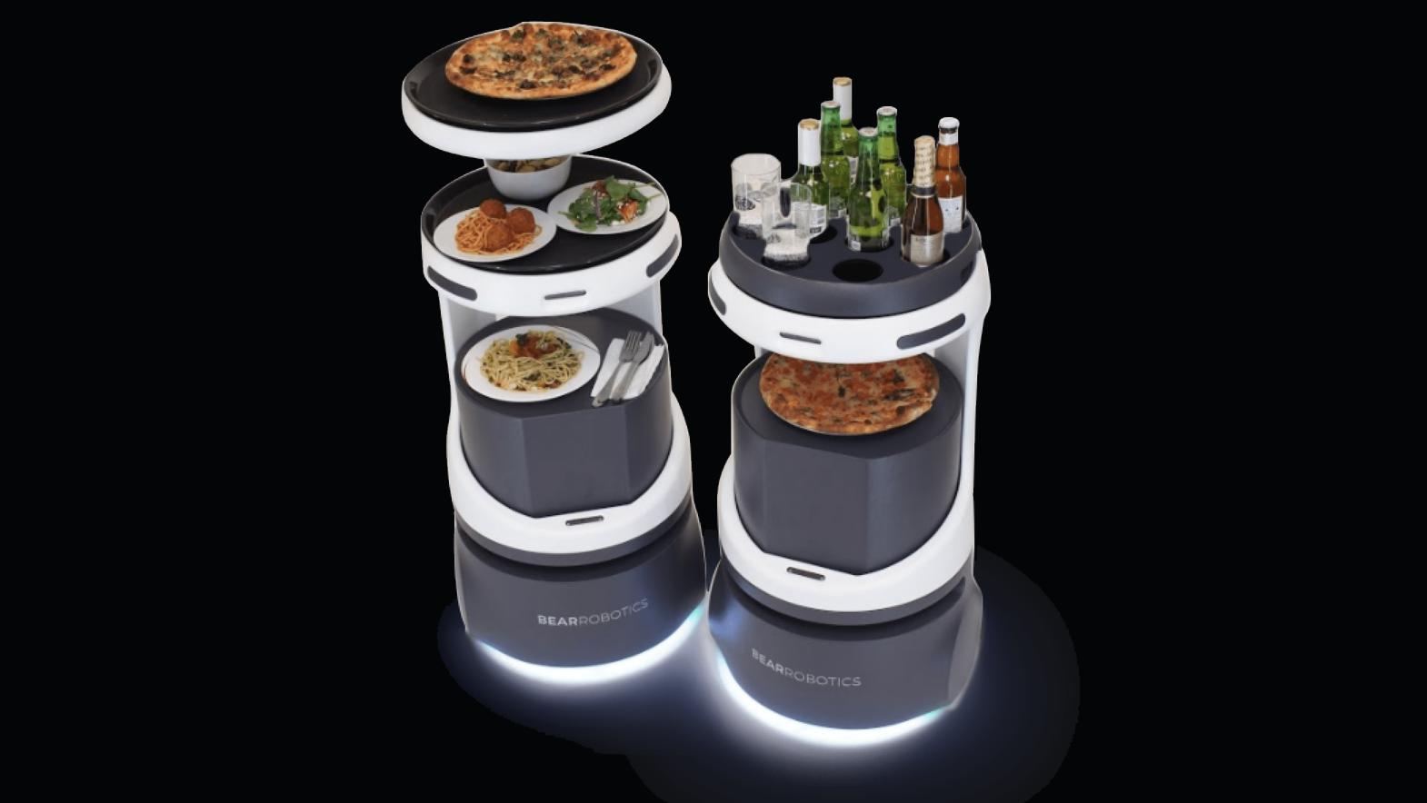 Servi robot kelner Bear Robotics SoftBank