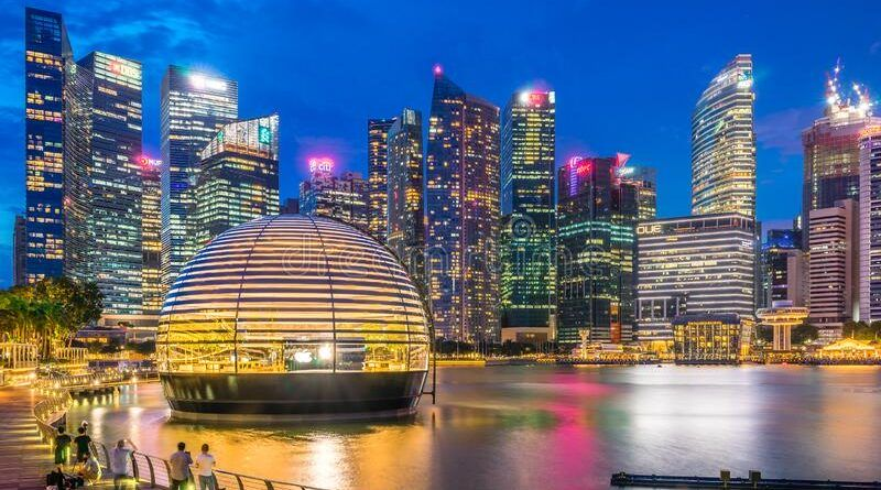 singapore first world apple store launches its new store marina bay sands glass dome shape building designed to 195606953