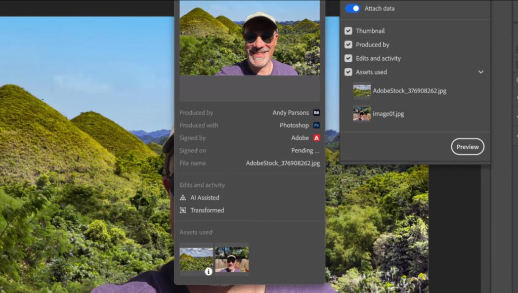 Content Authenticity Initiative Adobe Photoshop Behance analiza autorstwa obrazow tytul