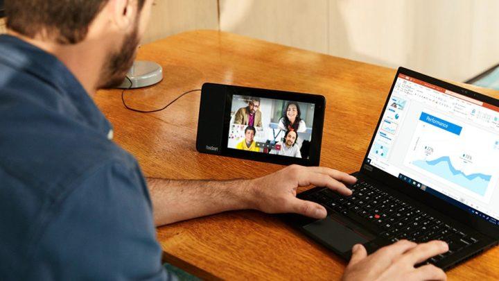 Lenovo ThinkSmart View – system wideokonferencyjny nabiurko lub domałej salki