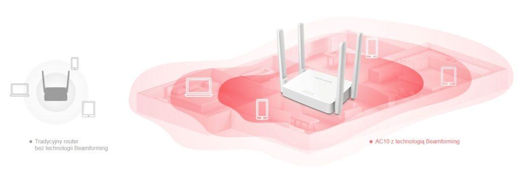 Mercusys AC10 router Wi-Fi 5 AC1200 Beamforming