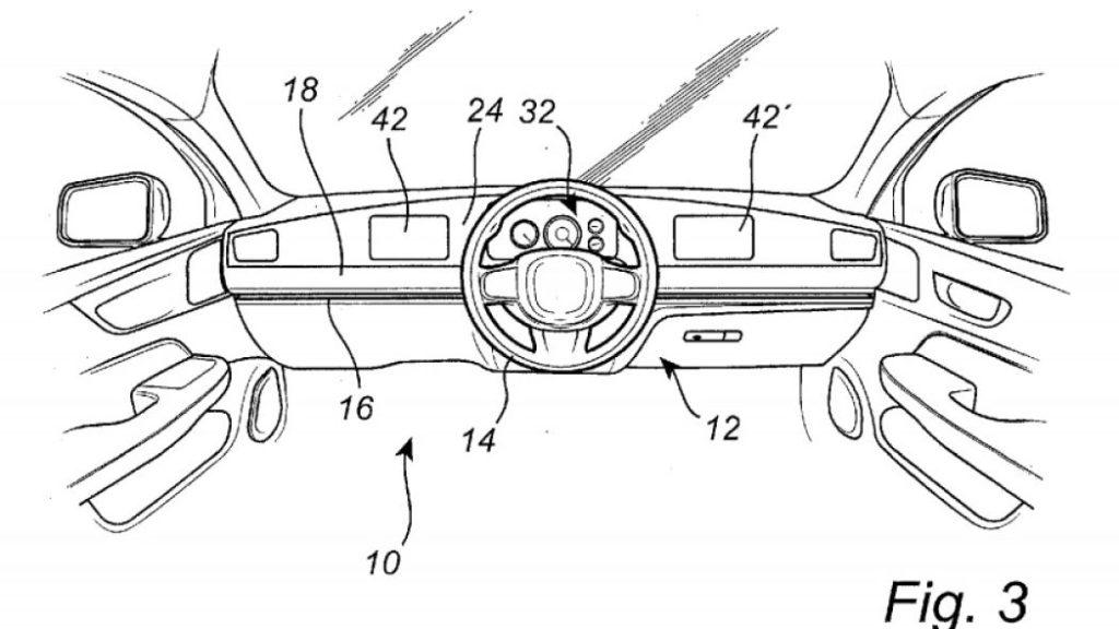 Patent Volvo - przesuwana kierownica 4