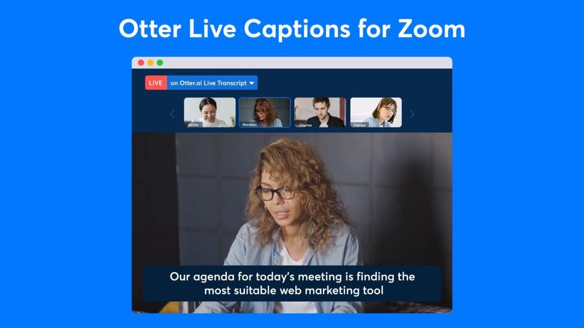 Napisy nażywo wZoom dzięki Otter.ai