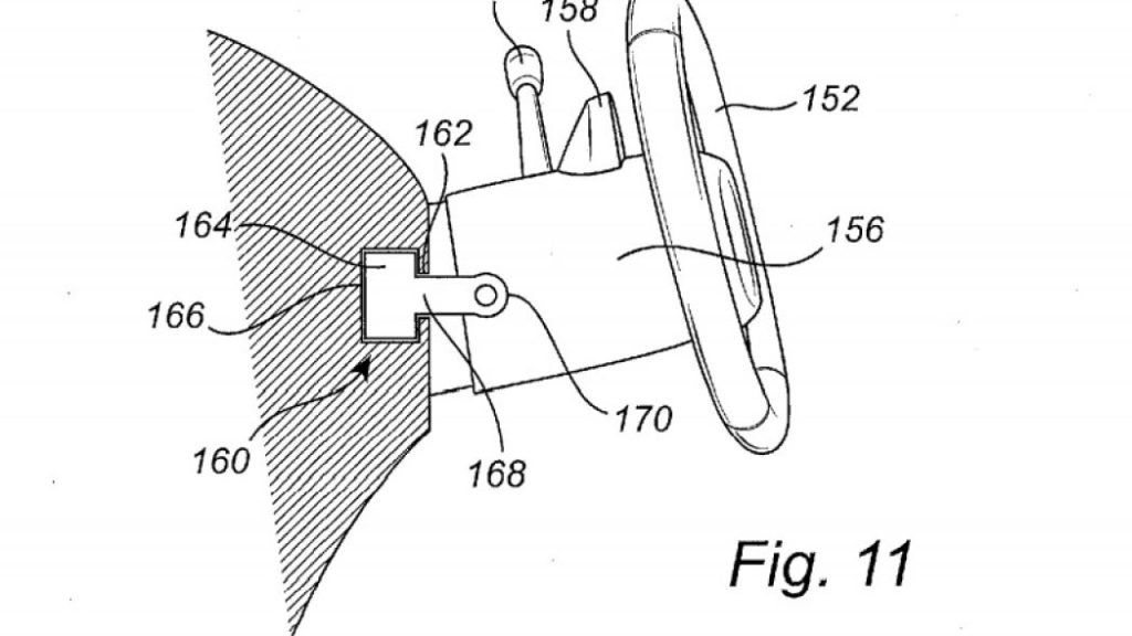 Patent Volvo - przesuwana kierownica 1