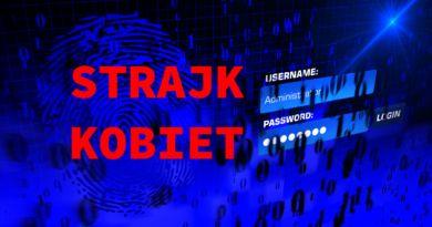 Strajk Kobiet wyłudzenie danych osobowych login hasło facebook