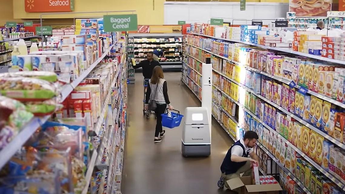 Bossa Nova robot Walmart