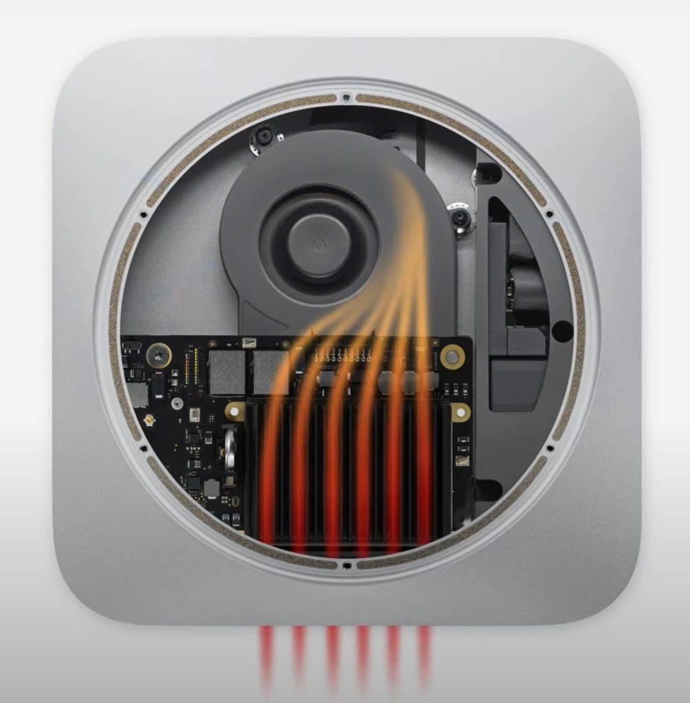 Apple Mac Mini chlodzenie