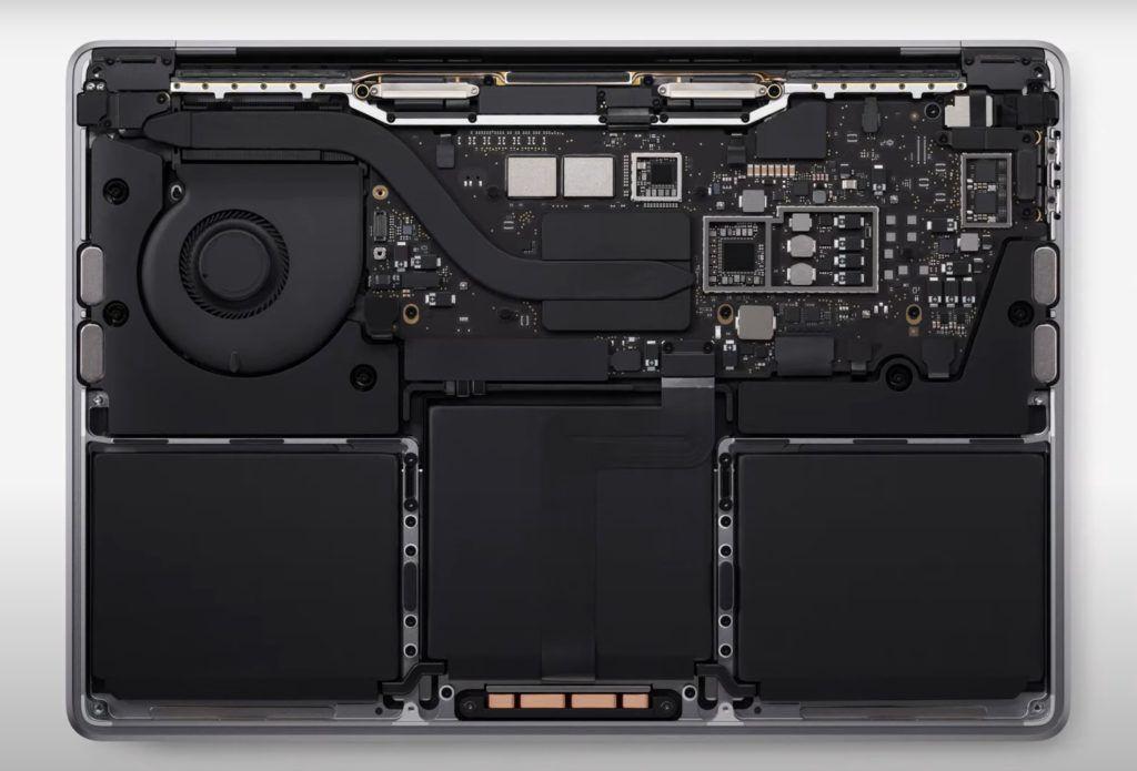 MacBook Pro wnetrze