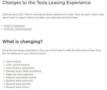 Tesla New Leasing Experience