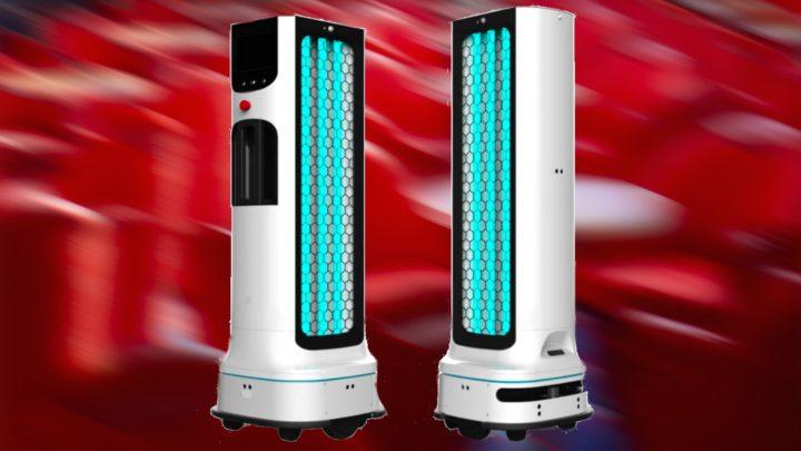 Autonomiczny robot zdezynfekującą lampą UV odLG
