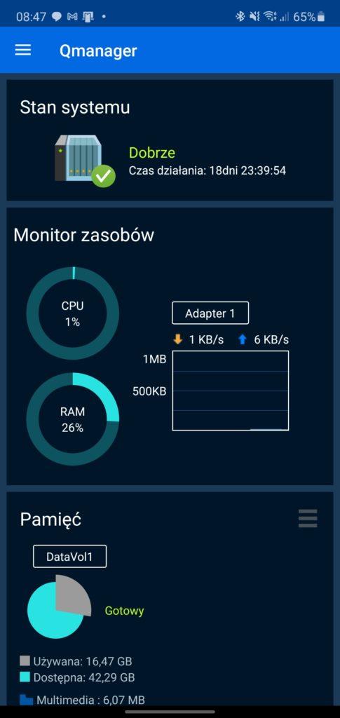 Qmanager status