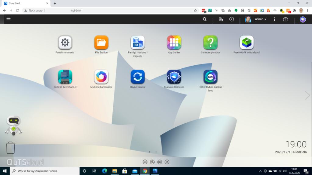 QuTScloud home screen