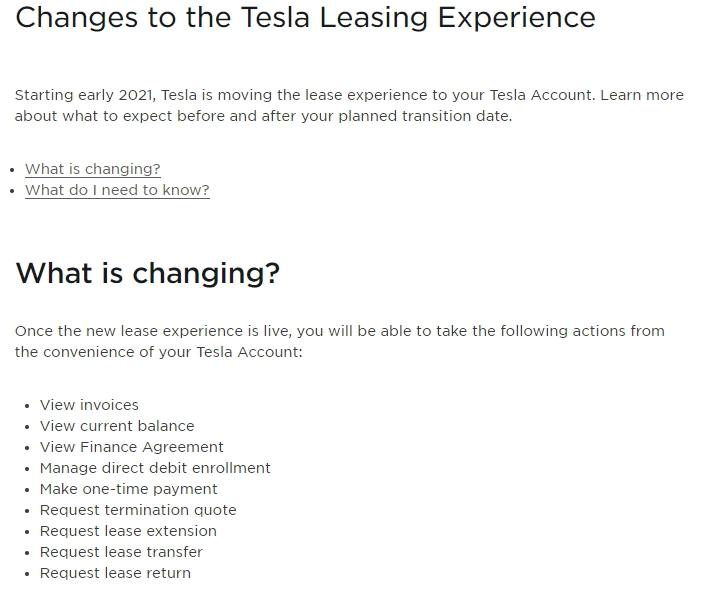 Tesla New Leasing Experience