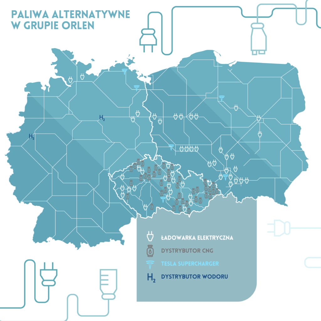 orlen stacje paliw alternatywnych infografika