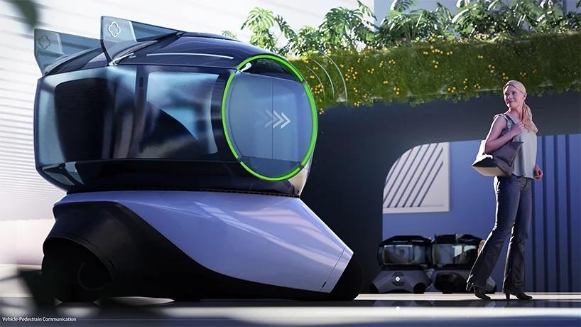 Futurystyczny pojazd autonomiczny wzorowany nabańce mydlanej – koncept Chuana Jianga
