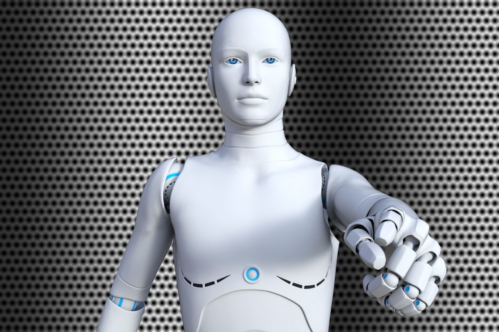 robot bialy humanoid android