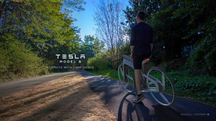 Takmoże wyglądać rower elektryczny Tesla Model B – projekt Kendalla Toernera
