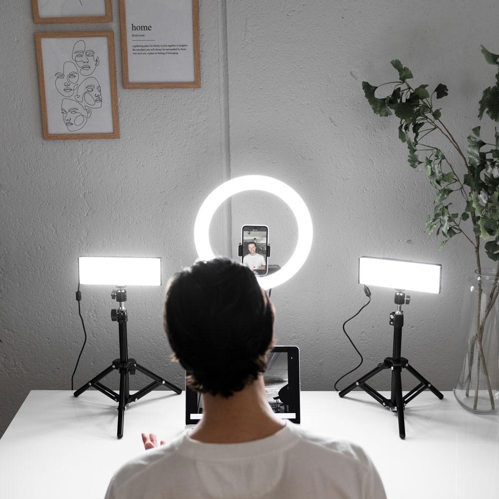 lampki oswietlenie videocall