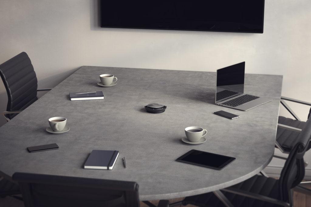 Jabra Speak 750 Meeting Room Curved Table MS White