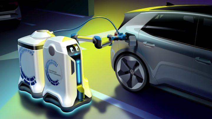 Mobilny robot ładujący Volkswagena – wizjonerski projekt automatycznego ładowania samochodów elektrycznych
