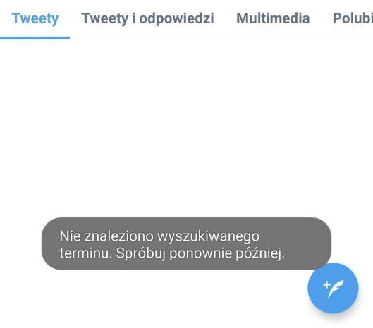 Twitter awaria