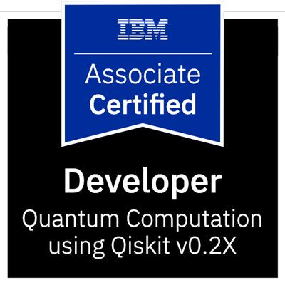 certyfikat programisty kwantowego IBM-Certified-Associate-Developer-Quantum-Computation-using-Qiskit-v0.2X