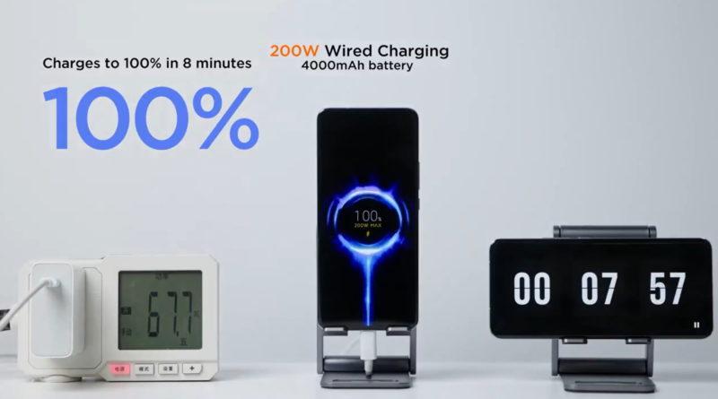 Xiaomi 200 W charge ładowanie