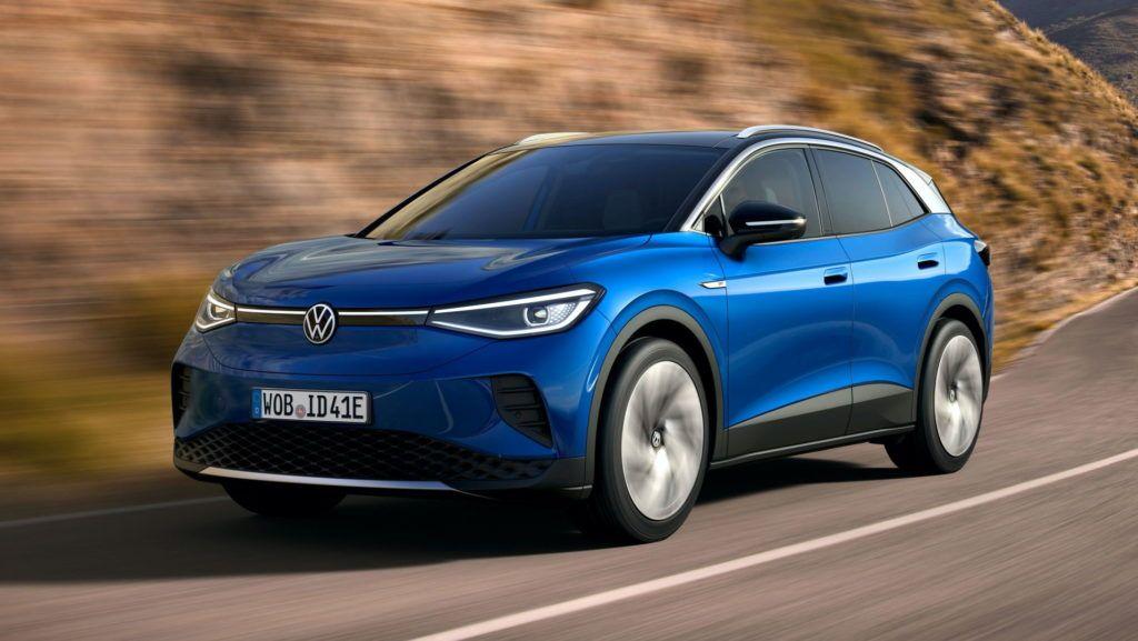 Volkswagen ID.4 przód podczas jazdy
