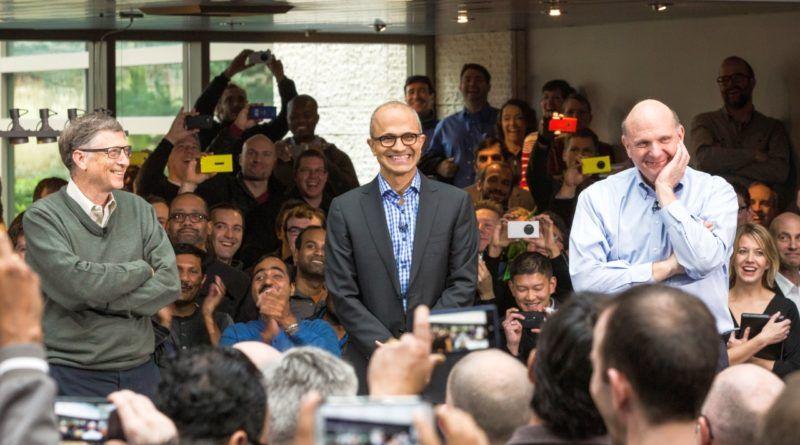 Satya-Nadella-Bill-Gates-Steve Ballmer-Microsoft