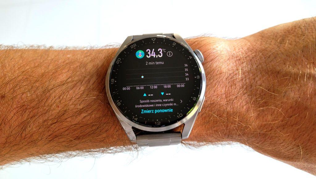 Huawei Watch 3 Pro temperatura ciala