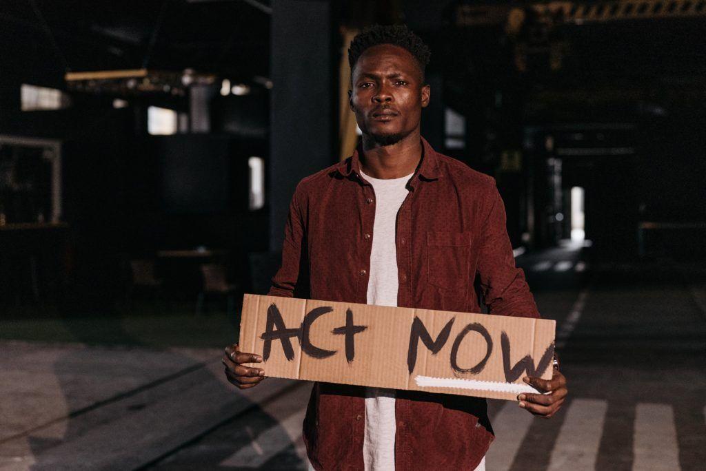 Technologia rozpoznawania twarzy Black Lives Matter George Floyd
