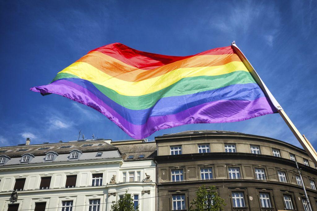LGBTQ tęcza flaga