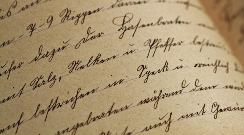 pismo odręczne kaligrafia