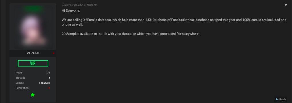 wyciek danych zFacebooka