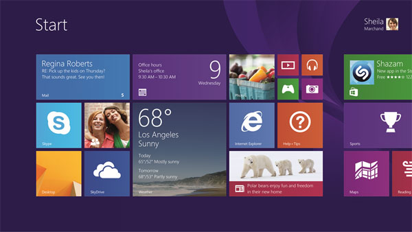 Windows 8.1 ekran Start