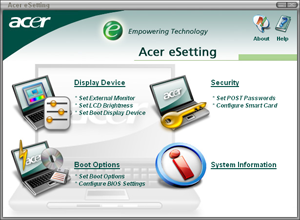 Acer eSettings