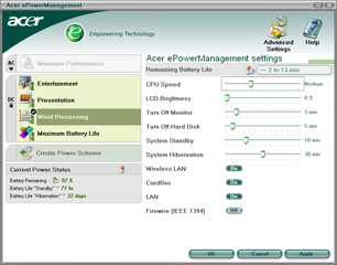 Acer ePowerManagement