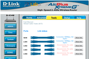 D-Link DI-634M - Virtual Cable Tester